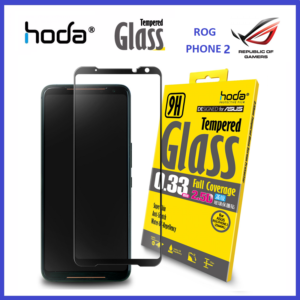 Asus ROG Phone 2 HODA 2.5D Full Coverage Tempered Glass Screen Protector ORI
