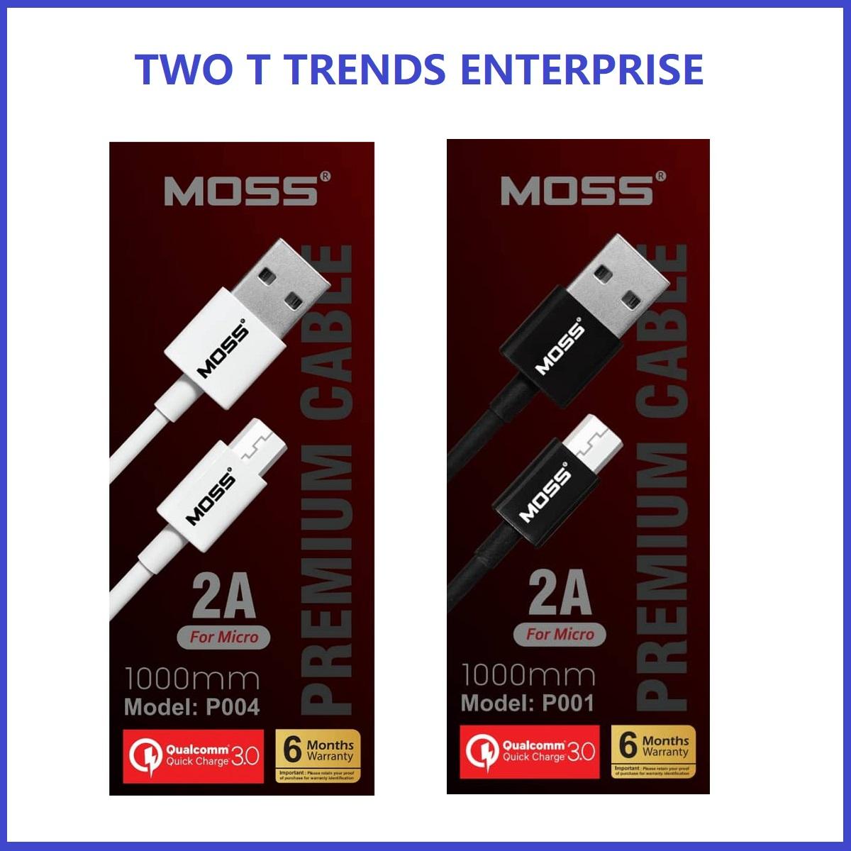 MOSS Type-C / Apple / Micro USB Premium Cable 1000mm /1500mm ORIGINAL