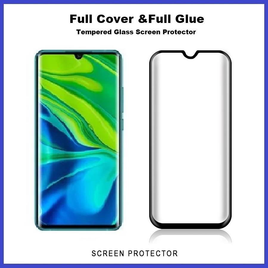 XiaoMi Note 10 / Note 10 Pro Full Glue Cover 3D Tempered Glass Screen Protector