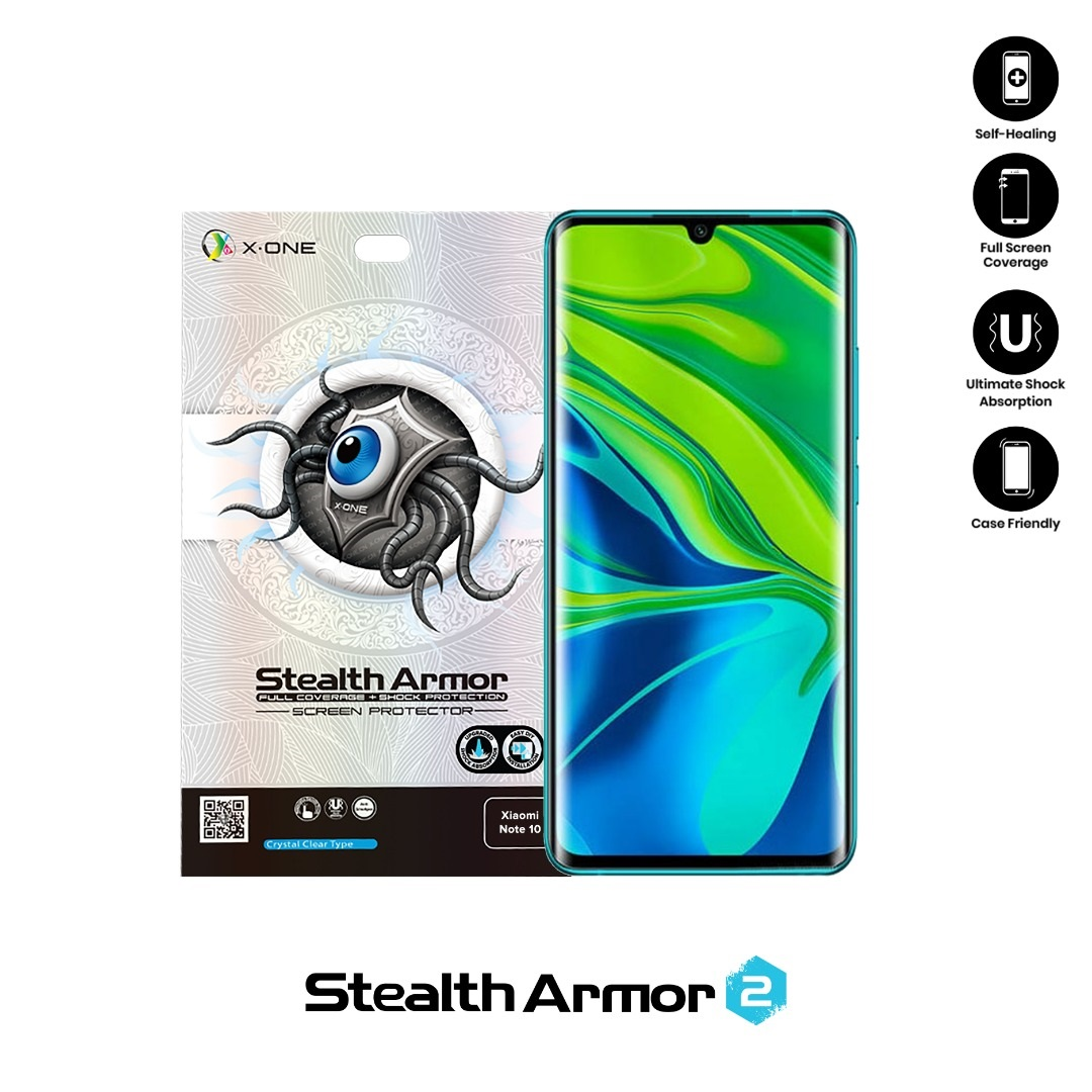 XiaoMi Mi Note 10 / Mi Note 10 Pro X-One Stealth Armor Ver 2 Seamless Anti Shock Screen Protector