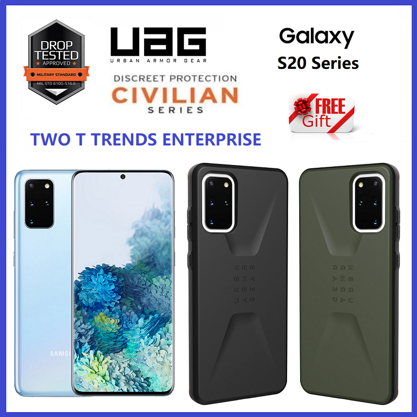 Samsung Galaxy S20 Plus / S20 Ultra / S20+ UAG Civilian Series Military Drop Protection Case Bumper Cover ORI