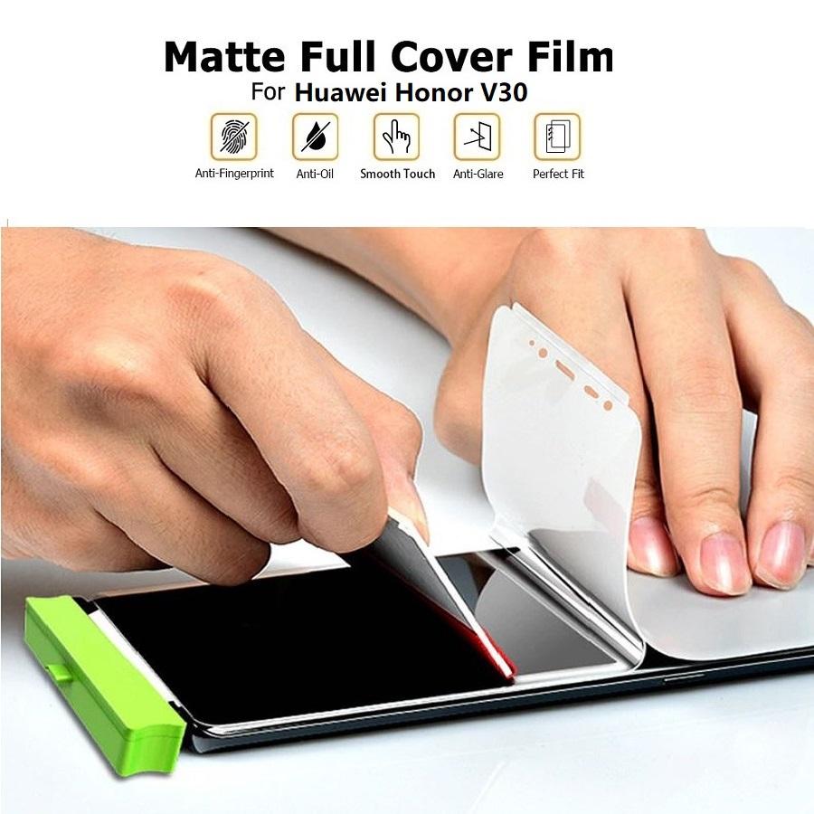 Huawei Honor V30 View 30 Front Back Matte Anti-Fingerprint Full Soft Screen Protector