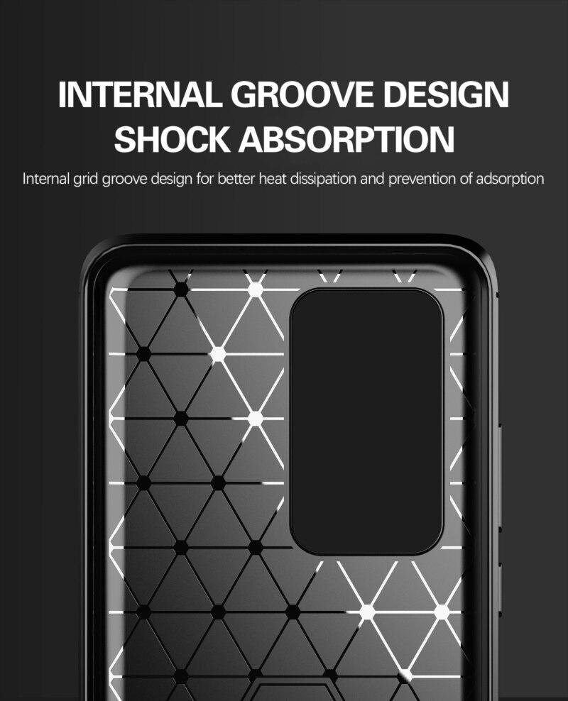 Huawei P40 Pro Slim Fit Rugged Armor Bumper TPU Case Cover