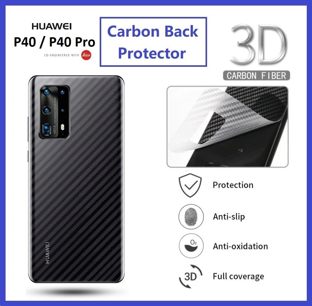 Huawei P40 / P40 Pro Back Carbon Matte Film Protector Anti Fingerprint