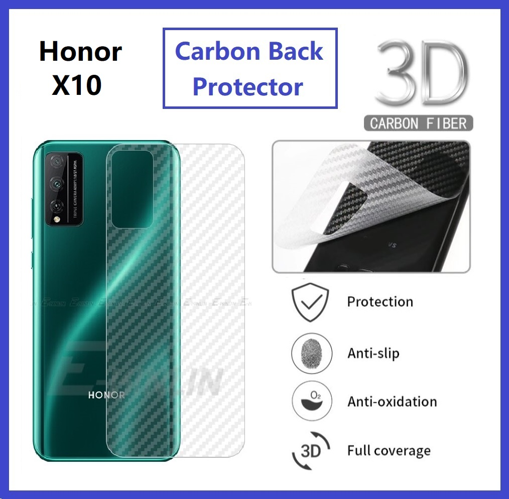 Huawei Honor X10 Back Carbon Matte Film Protector Anti Fingerprint