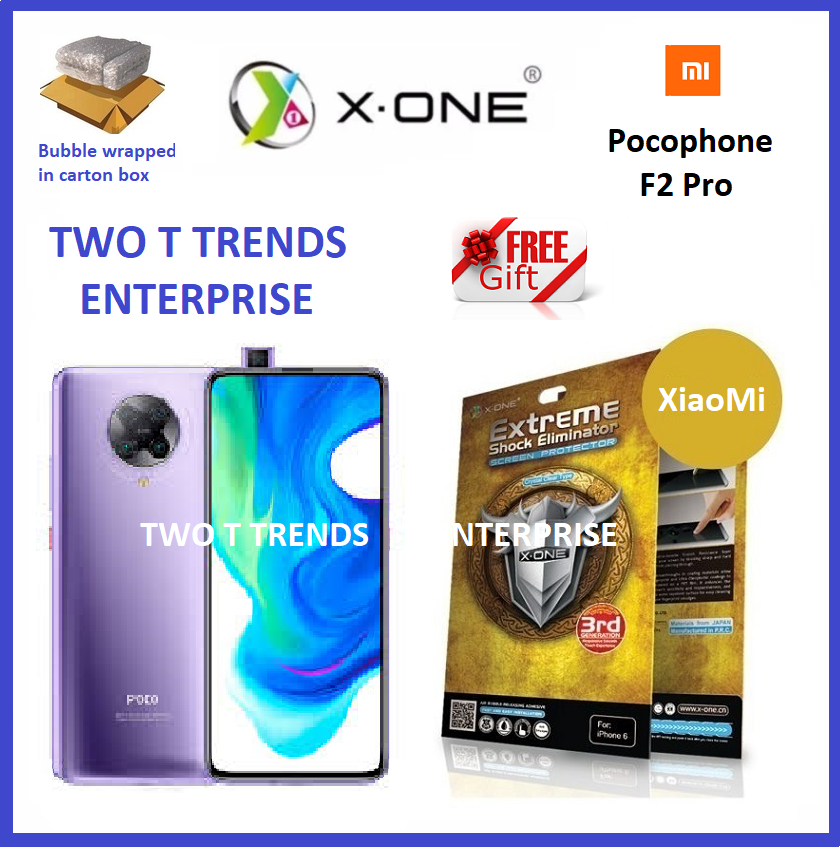 XiaoMi Pocophone F2 Pro / K30 Pro X-One Extreme Shock Eliminator Screen Protector 3rd Gen ORI