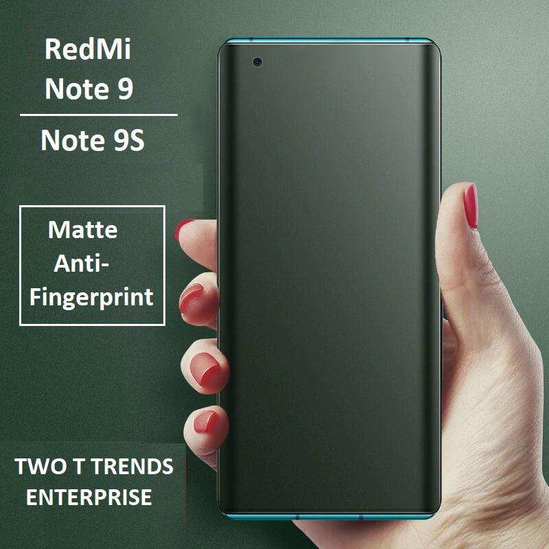 XiaoMi RedMi Note 9S / RedMi Note 9 / Note 9 Pro Front Back Matte Anti-Fingerprint Full Soft Hydrogel Screen Protector