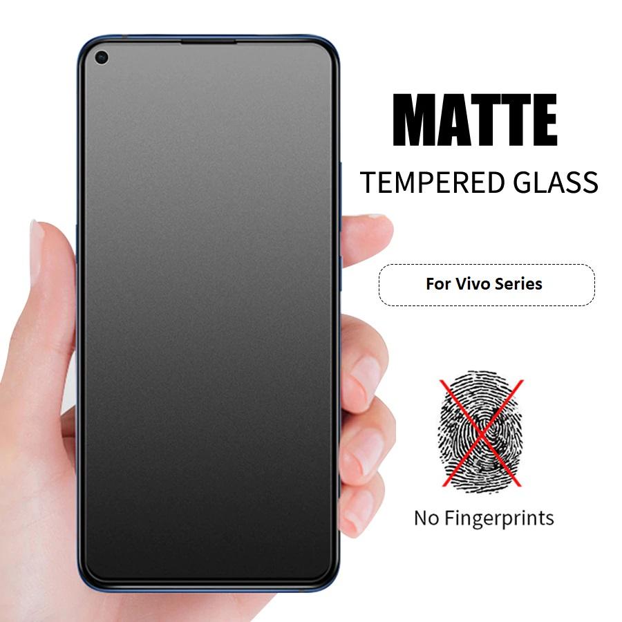Vivo X50 Full Matte Anti-fingerprint Full Tempered Glass Screen Protector