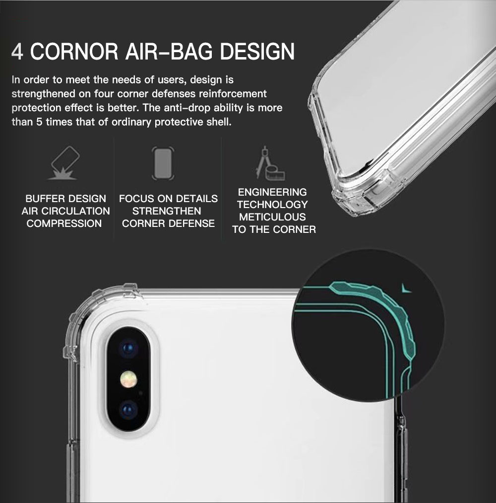 Sony Xperia 1 II / Xperia 10 II / Xperia 5 Soft Transparent Clear Airbag Shockproof Slim Bumper Case Cover