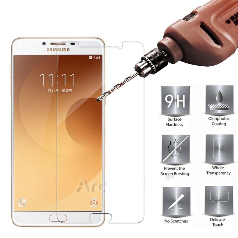 Samsung Galaxy J3 J5 J7 Pro 2017 C9 Pro J1 2016 Tempered Glass Screen Protector