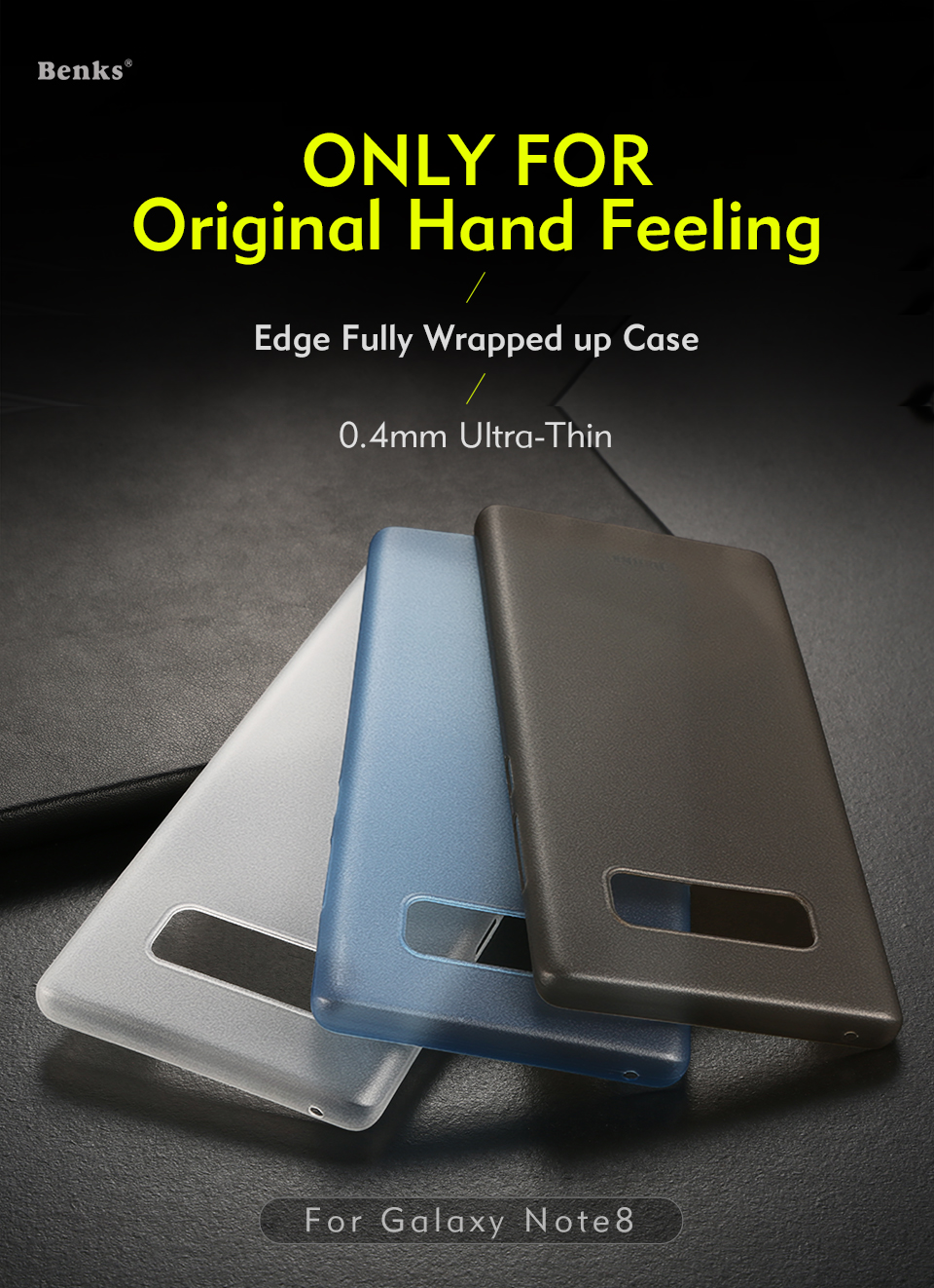 sale retailer 0b5ef ec864 Samsung Galaxy Note 8 Benks PP Matte Full Cover Case Ultra Thin Slim Light