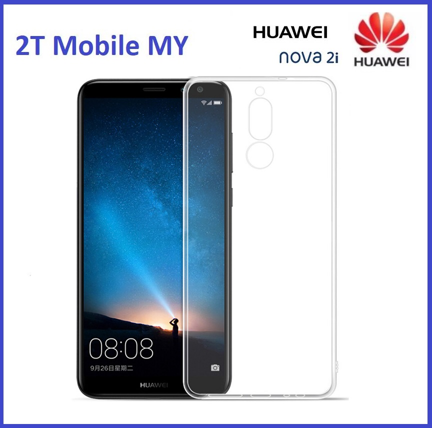 Huawei Nova 2i Soft Transparent Case Slim TPU Cover
