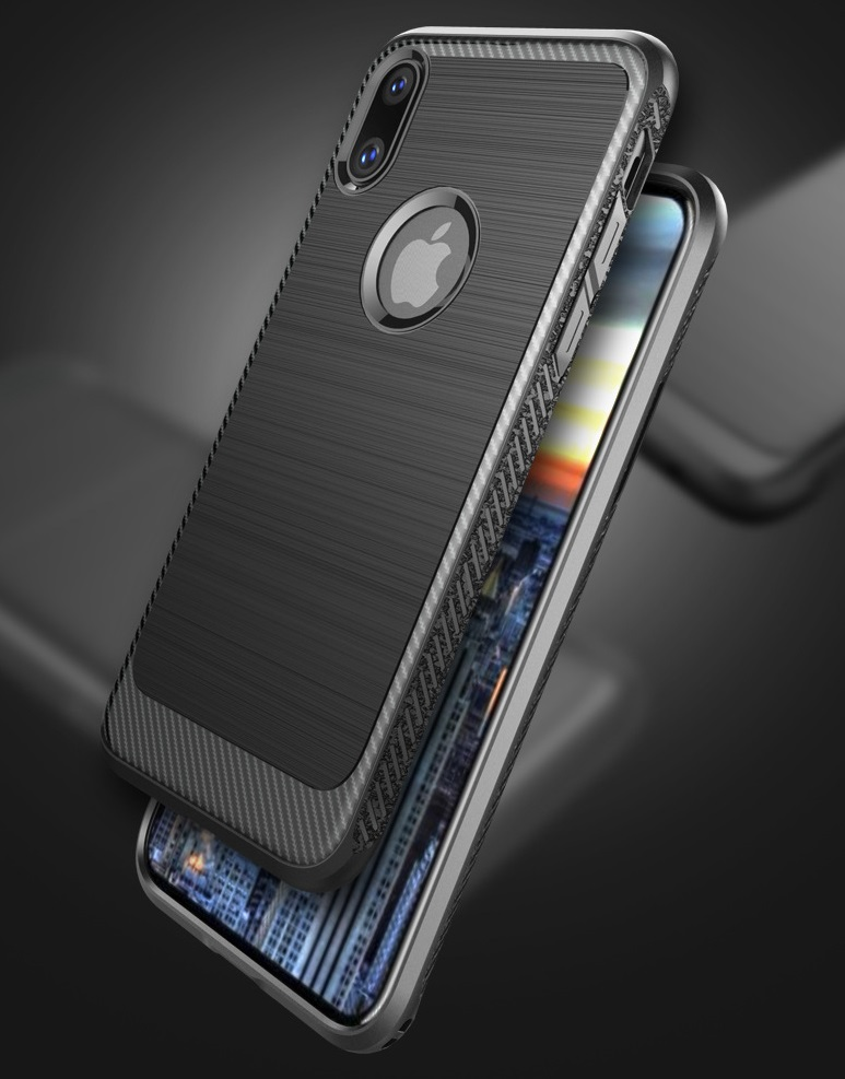 Apple Iphone X Protective Bumper Case With Lines Trendy Shock Protector Cover