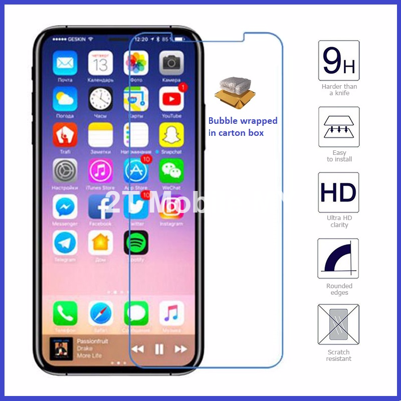 Apple IPhone X Tempered Glass Screen Protector 0.1mm 0.2mm