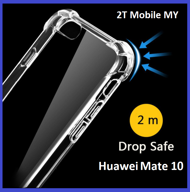 Huawei Mate 10 Transparent TPU Slim Shockproof Bumper Antidrop Case