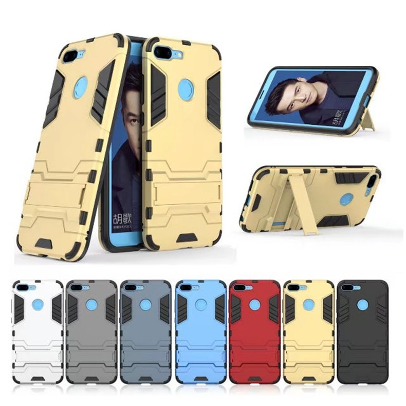 (PROMO) Huawei Honor 9 Lite Ironman Transformer Kickstand Case Bumper Cover