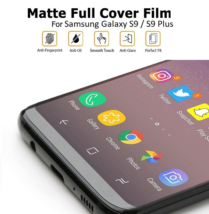 Samsung S9 / S9 Plus Matte Anti-Fingerprint Full Coverage 3D Screen Protector