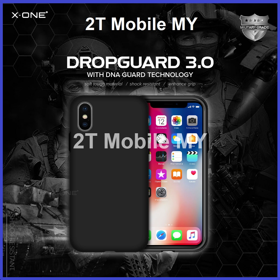 low priced 969e1 83a1c X-One DropGuard 3.0 Anti Shock Version 3 Case Bumper Apple IPhone X