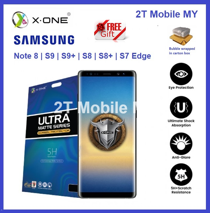 X-One Matte Screen Protector Samsung Galaxy Note 8 S8 S9 S9 Plus S7 Edge