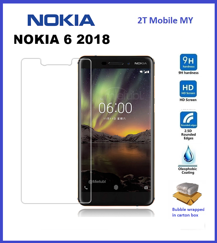 Nokia 6.1 2018 Tempered Glass Screen Protector 2.5D