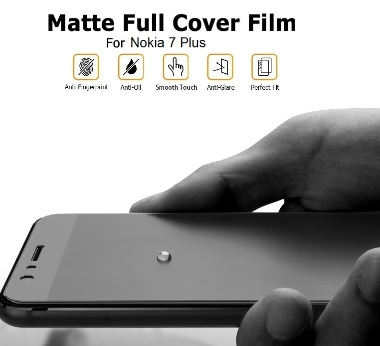 Nokia 7 Plus Matte Anti-Fingerprint Full 3D Screen Protector Front Back