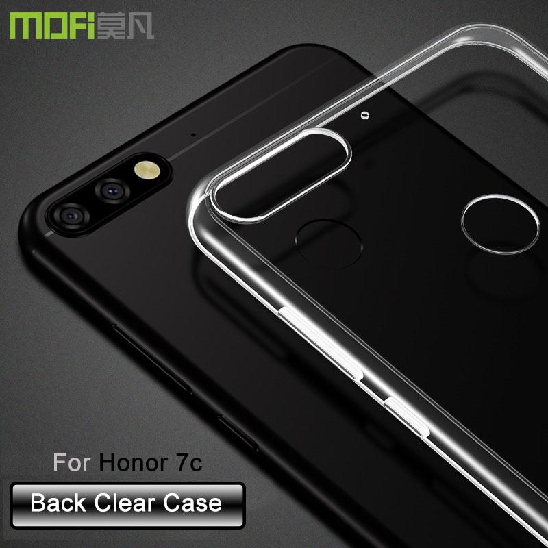 Huawei Honor 7C Soft Transparent Case Slim TPU Cover