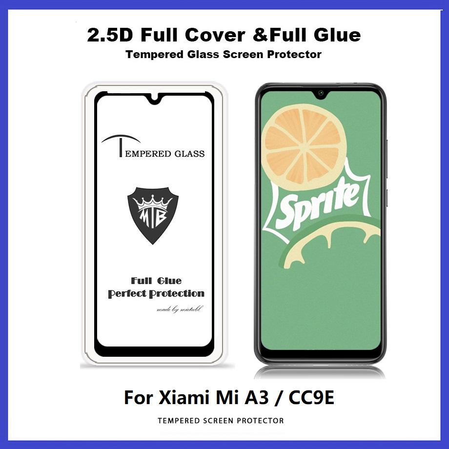 XiaoMi Mi A3 / CC9E / CC9 / Mi A2 Lite Full Glue Cover Tempered Glass Screen Protector