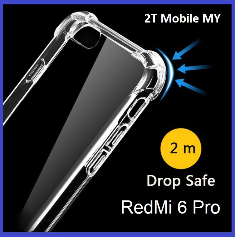 XiaoMi Mi A2 Lite Transparent TPU Shockproof Bumper Anti Drop Case Cover