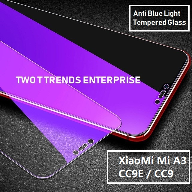 XiaoMi Mi A3 / CC9E / Mi A2 Lite Full Anti Blue Light Ray Tempered Glass Screen Protector