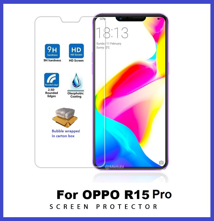 Oppo R15 Pro Tempered Glass Screen Protector 2.5D