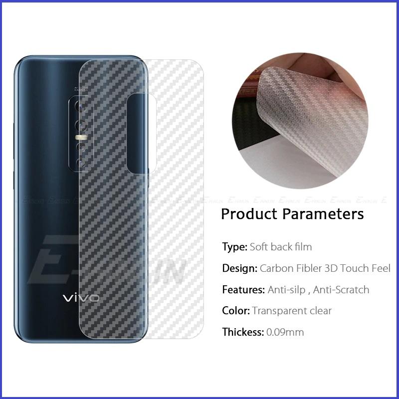 Vivo Nex 3 / Vivo Nex Back Carbon Matte Film Screen Protector Anti Fingerprint