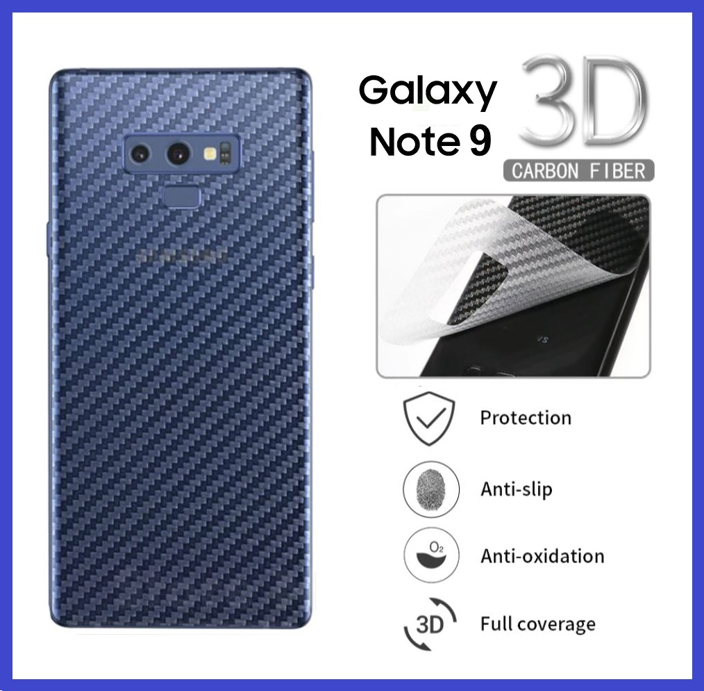Samsung Galaxy Note 20 / Note 20 Ultra / 10 Lite / Note 10 / Note 10 Plus / Note 9 / Note 8 Back Carbon Matte Protector