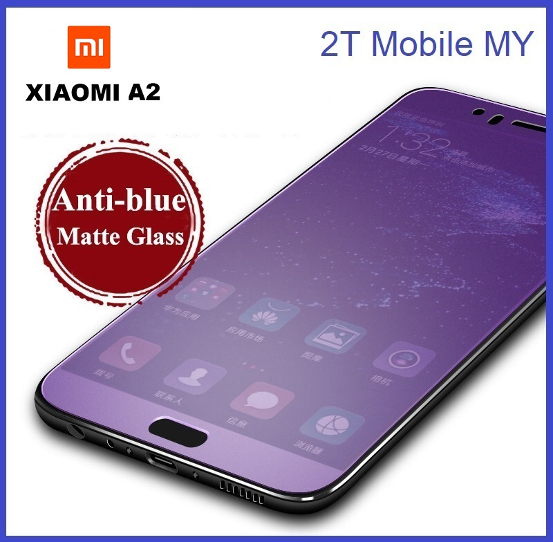 XiaoMi Mi A2 / Mi A2 Lite Matte Anti Blue Light Ray Full Tempered Glass