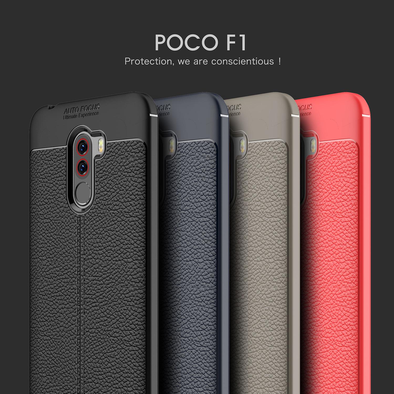 XiaoMi Pocophone F1 Dermatoglyph Case Matte Bumper Anti-Fing...
